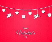 Love Valentines Day. Card Background. Love concept design. Vector hearts with text. EPS10