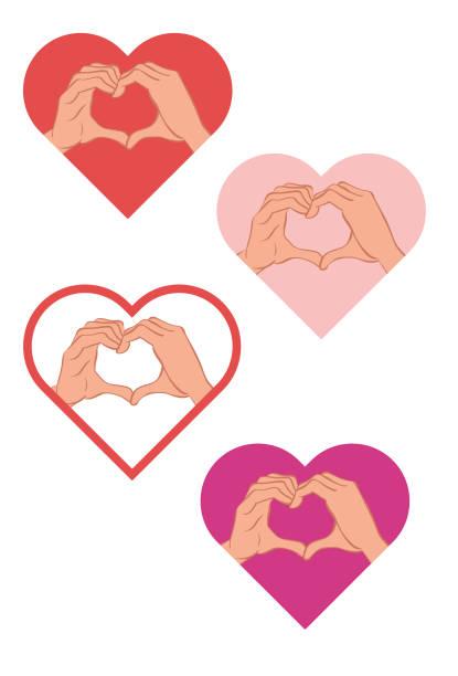 I love Mãos formando um símbolo de coração futebol stock illustrations