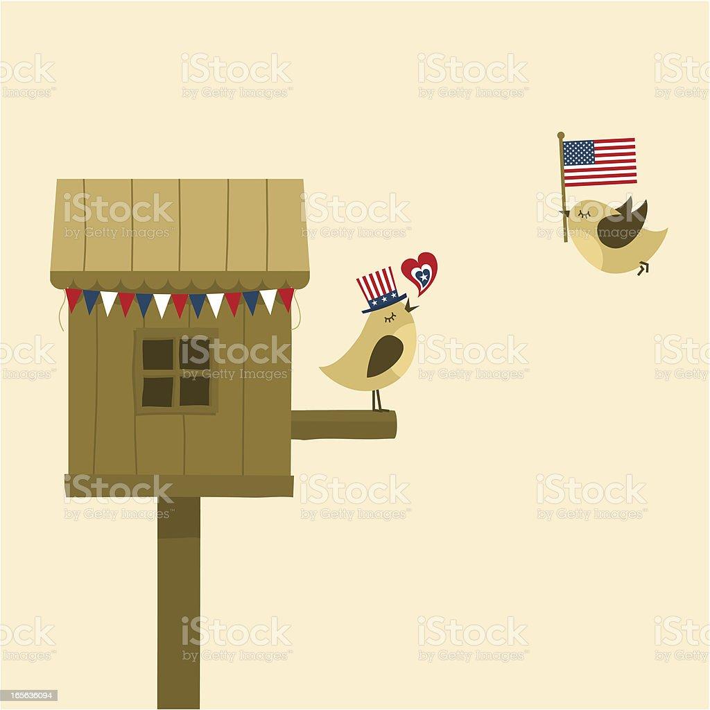 USA love vector art illustration