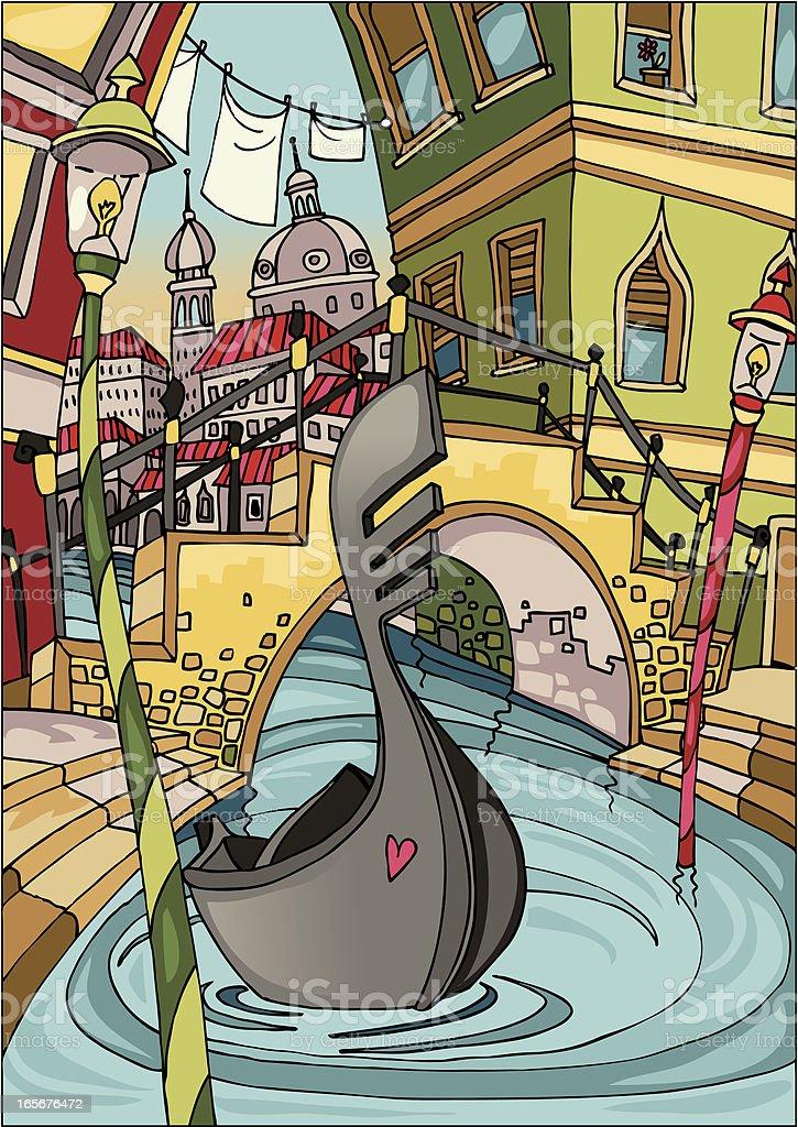 Love Venice royalty-free stock vector art