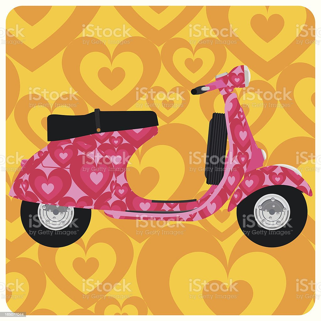 Love vespa. hippie heart Psychedelic scooter pop art royalty-free love vespa hippie heart psychedelic scooter pop art stock vector art & more images of backgrounds