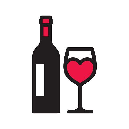 Love wine icon