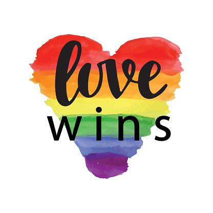 Love wins. Pride slogan
