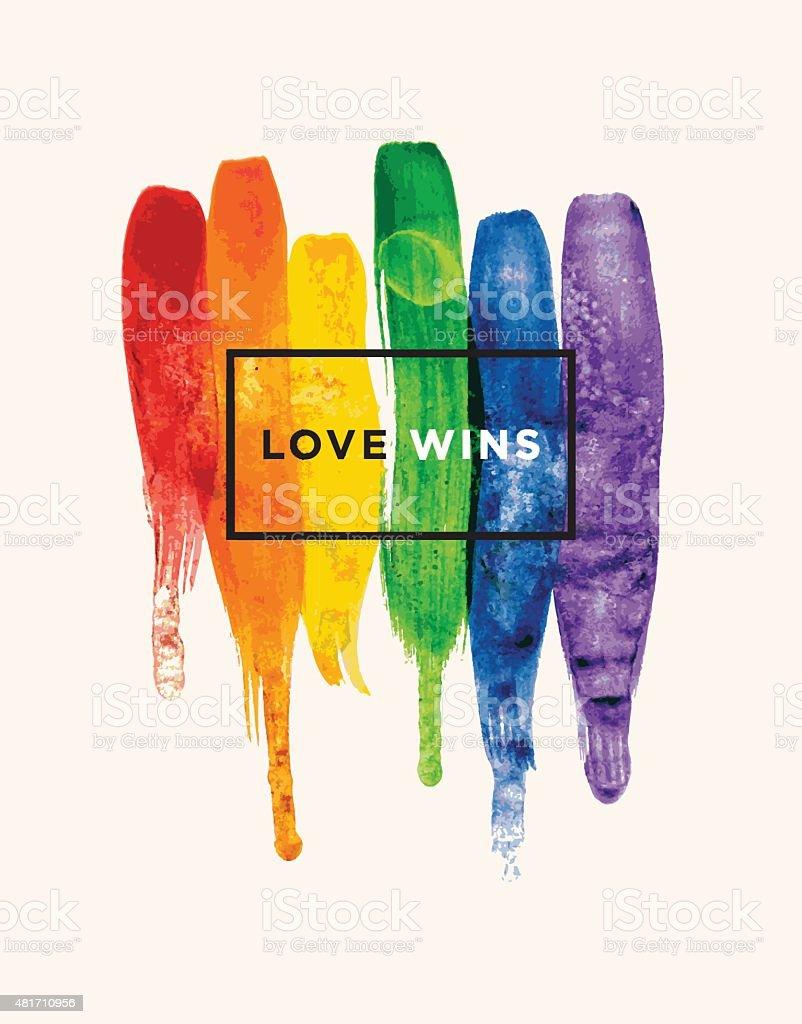 Love wins vector art illustration