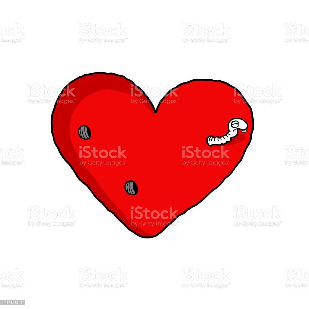 Love Worm royalty-free stock vector art