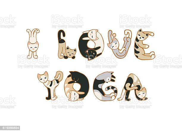 Love yoga cats letters vector id619386894?b=1&k=6&m=619386894&s=612x612&h=dbrfa0wbgwwvr snapuw ixyqd03sitv40oezikto0i=