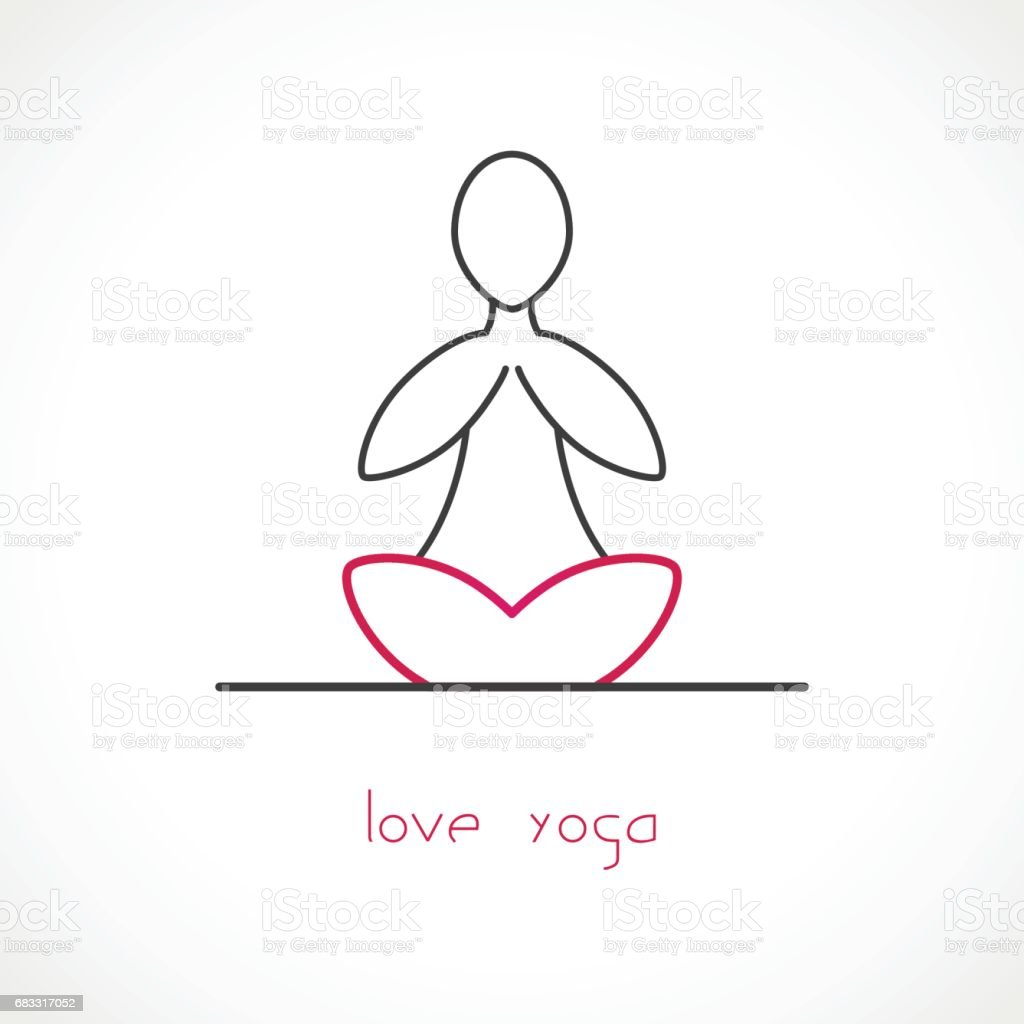 Love Yoga Vector royalty-free love yoga vector stock vector art & more images of computer graphic