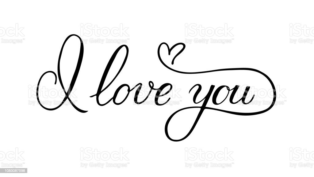 Download I Love You Calligraphy Hand Lettering With Heart ...