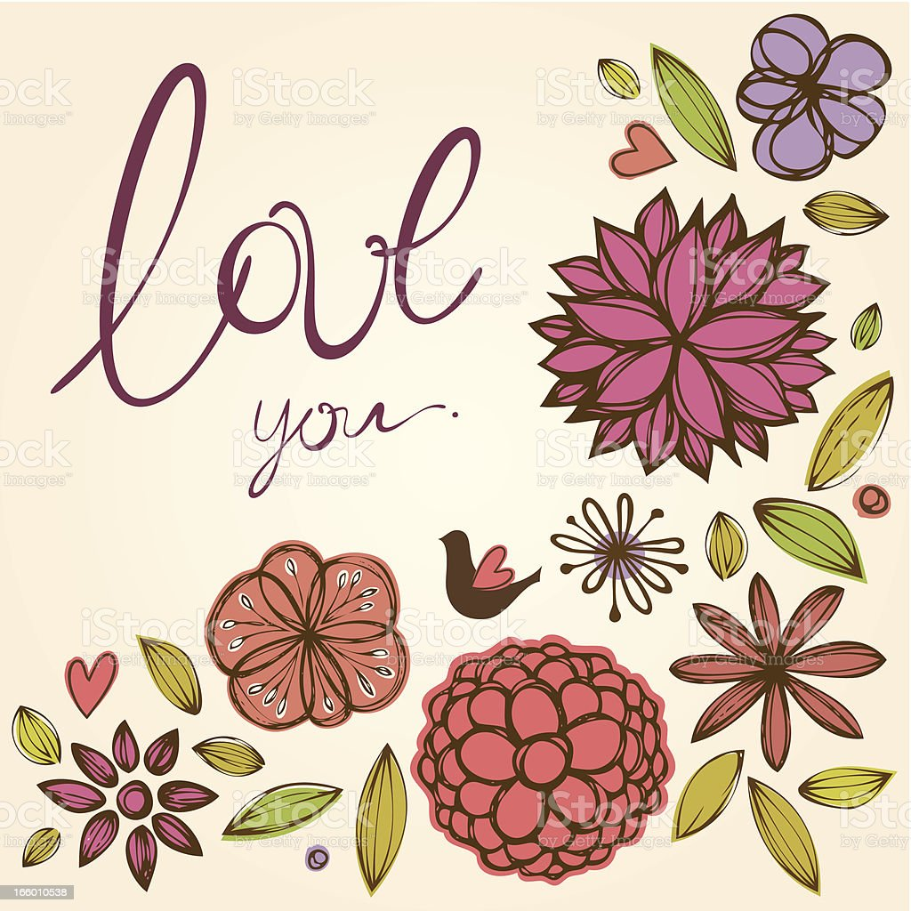 Love You Card royalty-free stock vector art