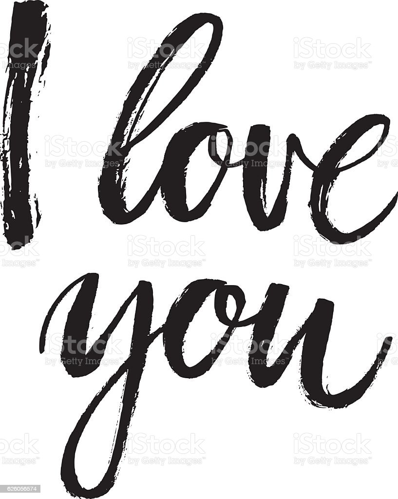 I love you card stock vector art more images of art - Black and white love pictures ...
