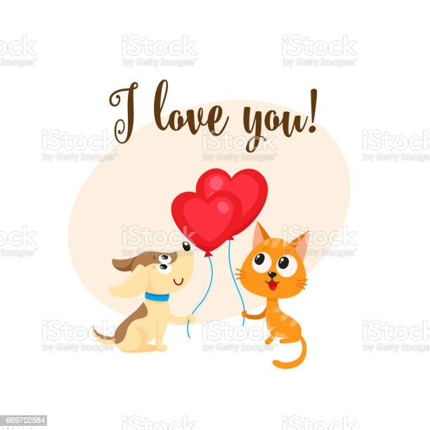 Love you card with dog cat heart shaped balloon vector id669702584?b=1&k=6&m=669702584&s=612x612&h=qjrc6fcuz8hxgcjgwxj8yrmzsrst9kqcpiiz 4j5d7w=