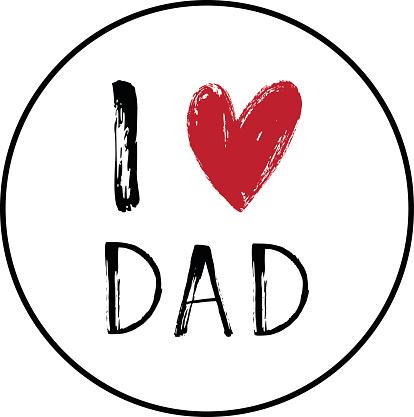 Download Ilustración de I Love You Dad Card With A Heart y más ...