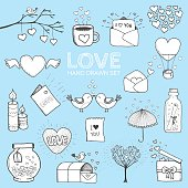 I love you doodle icon set isolated, vector illustration hand drawn.I love you doodle icon set isolated, vector illustration hand drawn.I love you doodle icon set isolated, vector illustration hand drawn.