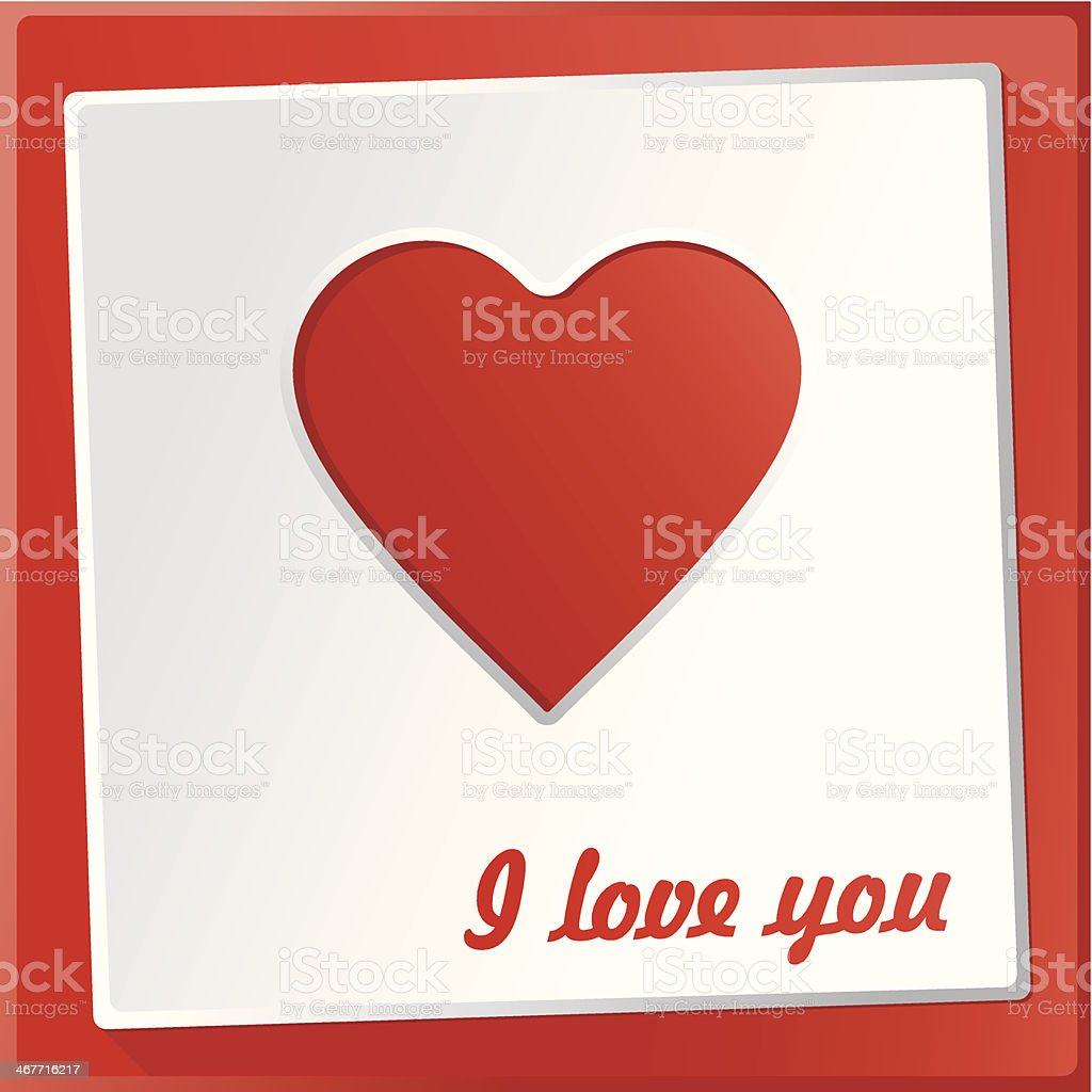 I love you gift card royalty-free stock vector art