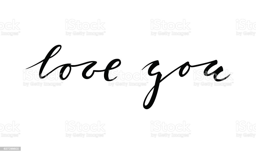 Download I Love You Hand Drawn Calligraphy And Brush Pen Lettering ...