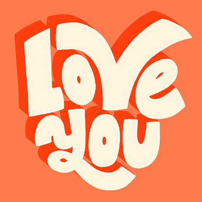 Love you hand-lettering quote