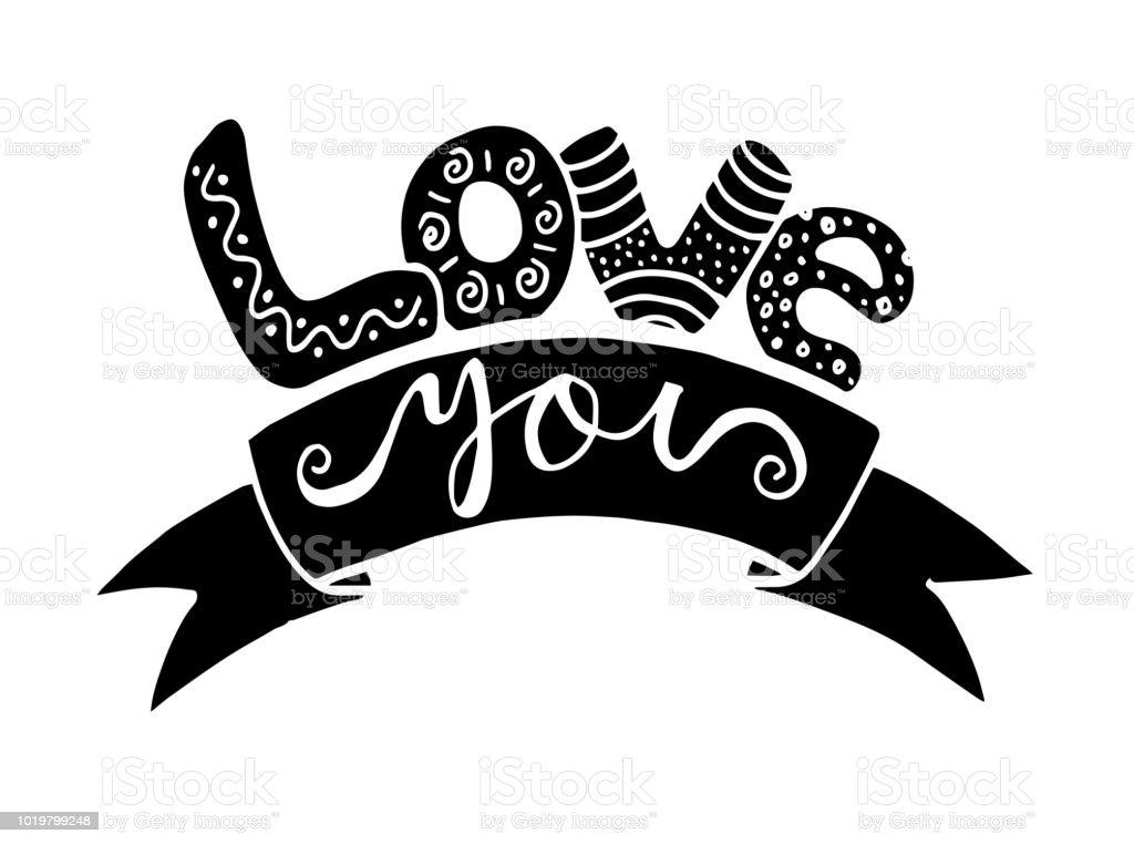 I love you handwritten text for postcards posters symbol or print in i love you handwritten text for postcards posters symbol or print in vector altavistaventures Choice Image