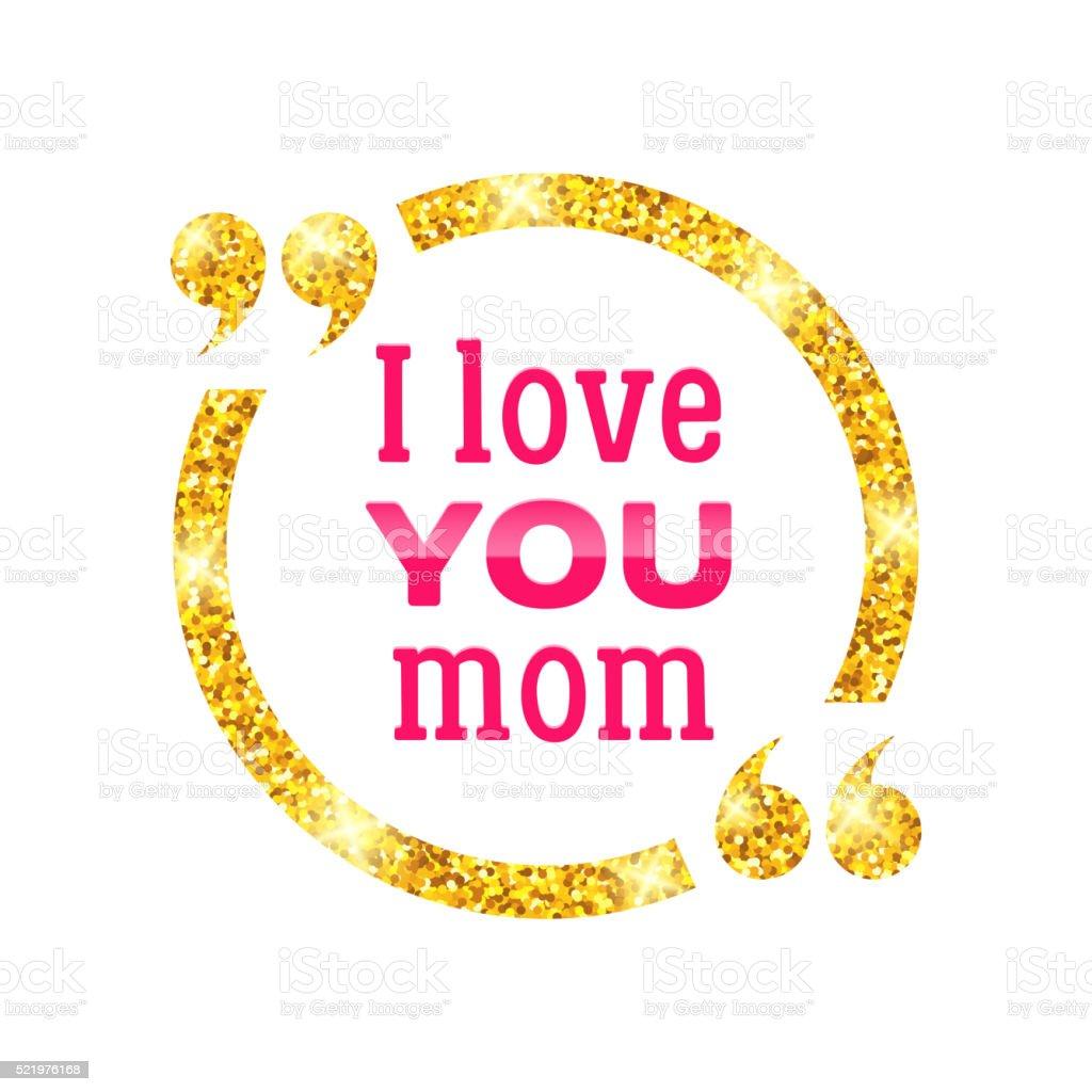 I Love You Mom Happy Mother Day Background Stockvectorkunst En Meer