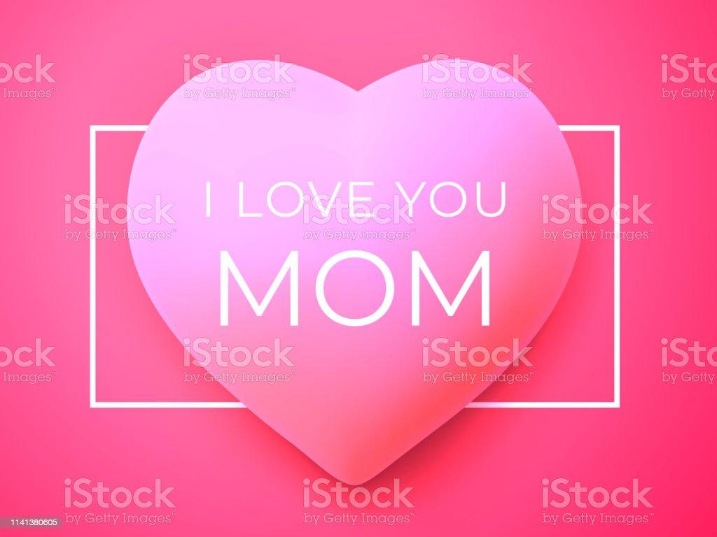 Ilustración De Te Quiero Mamá Happy Madres Día De