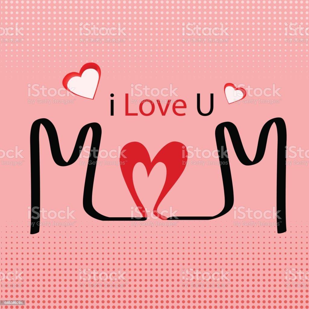 I love you, mom Happy Mother's Day i love you mom happy mothers day - arte vetorial de stock e mais imagens de abstrato royalty-free