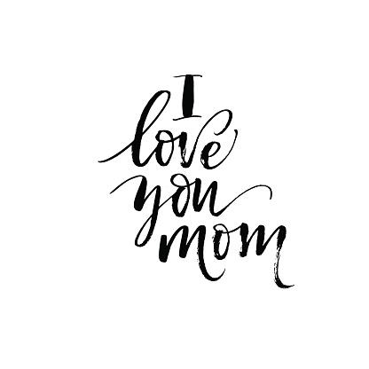Download I Love You Mom Phrase Stock Illustration - Download Image ...