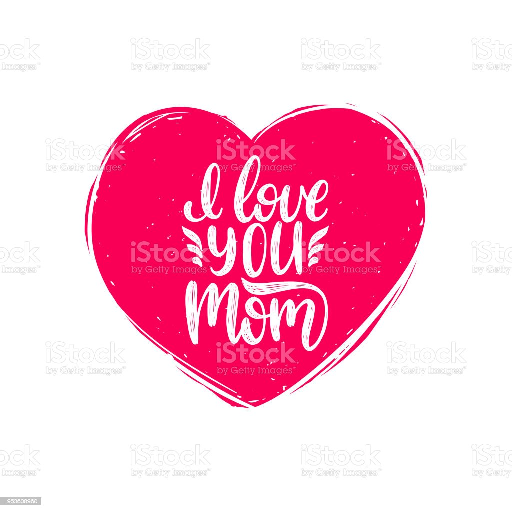 Download I Love You Mom Vector Calligraphy Happy Mothers Day Hand ...
