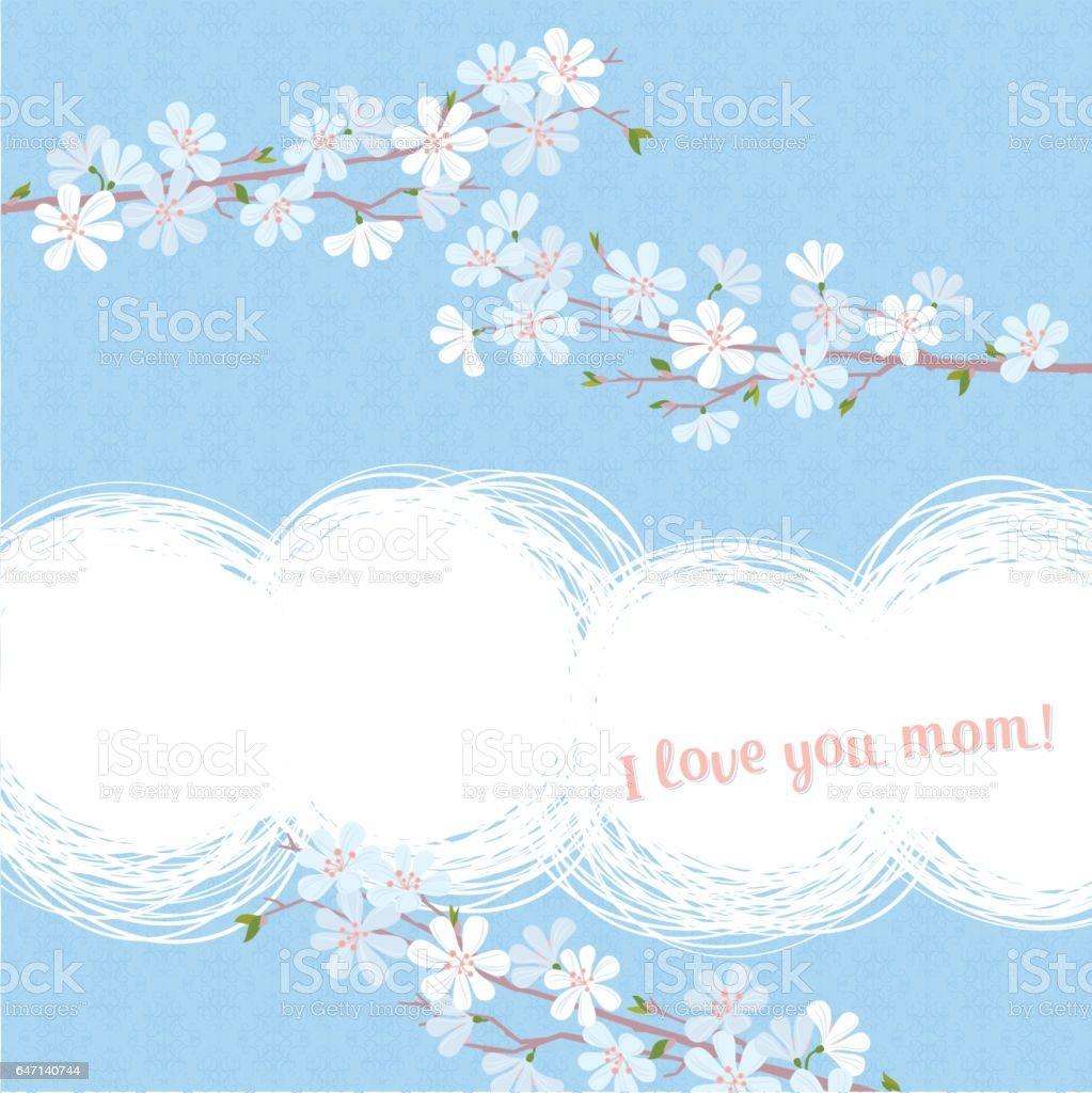 I love you mom! vector art illustration