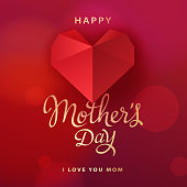 Mother's day is a special time to show how much you love her and send her a red heart greeting card
