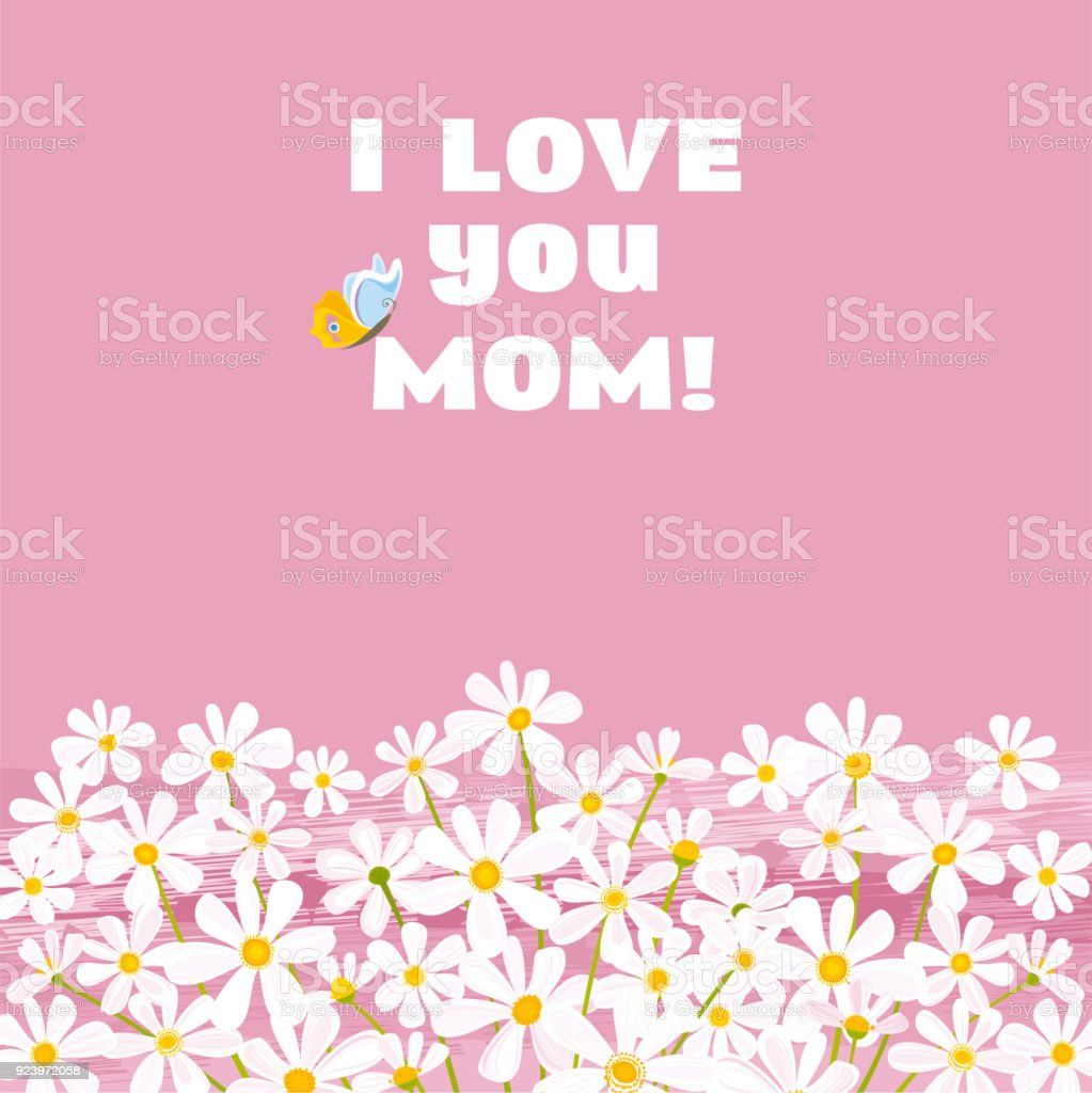 I Love You Mom! royalty-free i love you mom stock vector art & more images of backgrounds