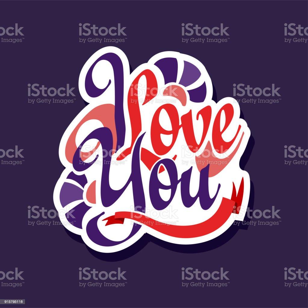 Ilustração De Eu Te Amo Cartaz Com Frase Romântica Dia Dos Namorados