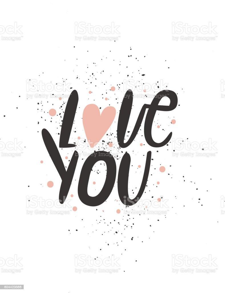 Ich Liebe Dich Romantisches Angebot Niedliche Handgezeichnete