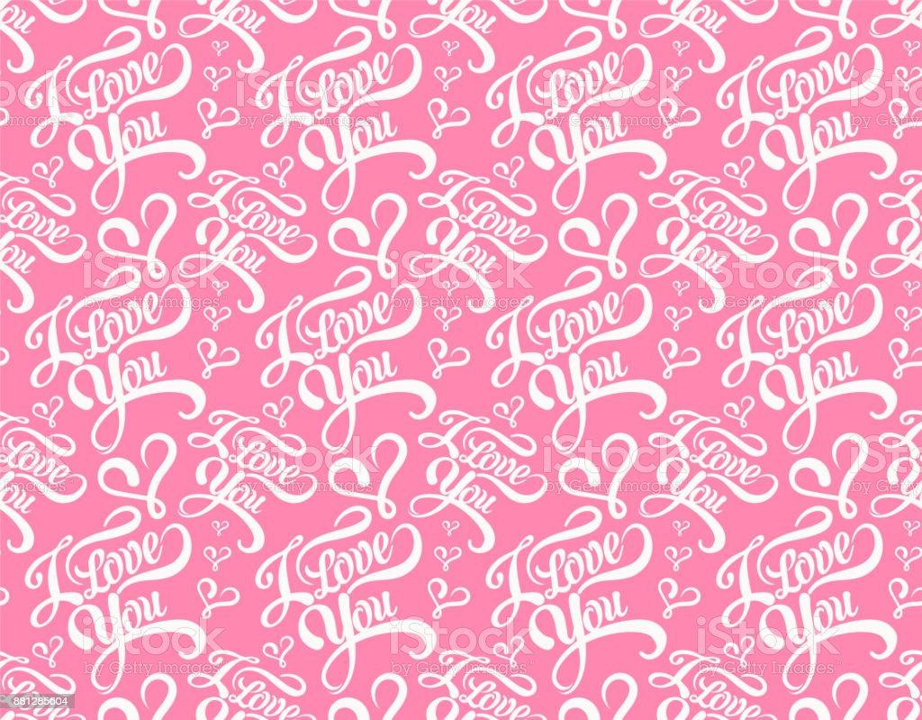 Te amo, de patrones sin fisuras - ilustración de arte vectorial