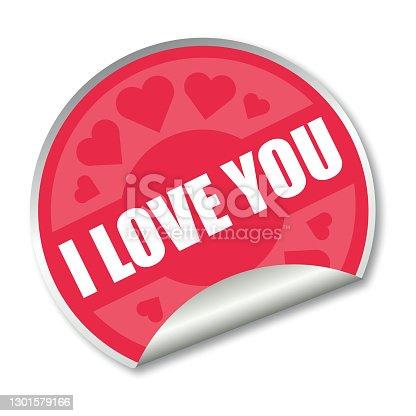 I love you sticker label