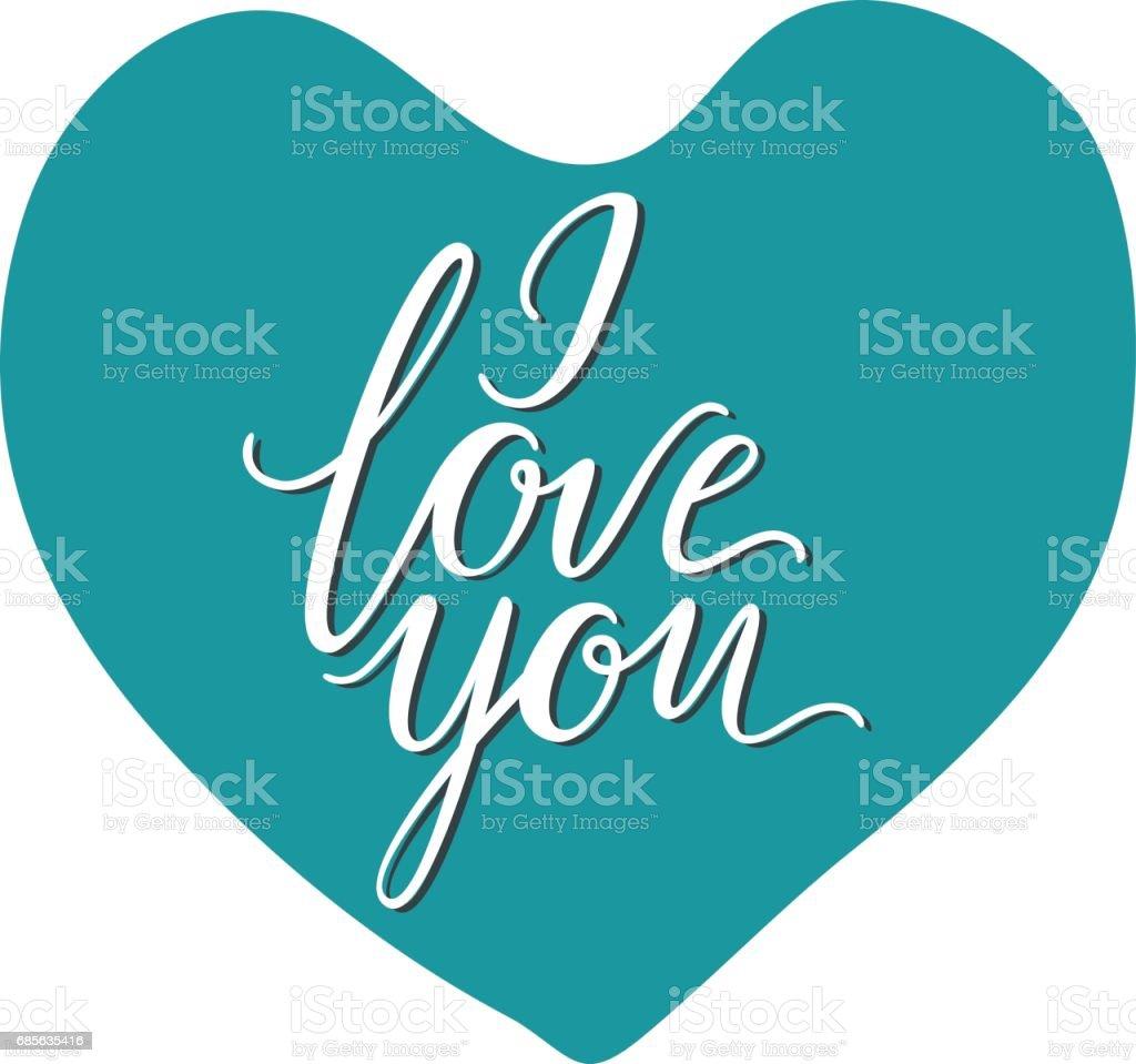 我愛你文字手工書法和刻字 免版稅 我愛你文字手工書法和刻字 向量插圖及更多  紅心 圖片