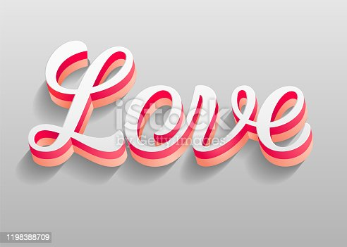 istock I love you. Valentine's Day holiday background, 3d vector illustration 10eps 1198388709