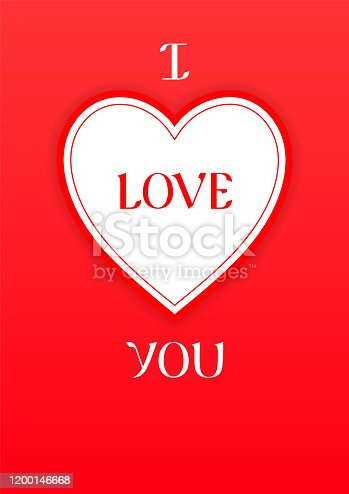 I love you. Valentine's Day trendy new holiday background, vector illustration. Can used for your design wallpaper, flyers, invitation, posters, brochure, banners.