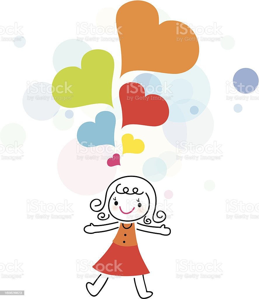 I Love You(cute girl, mother ) royalty-free stock vector art