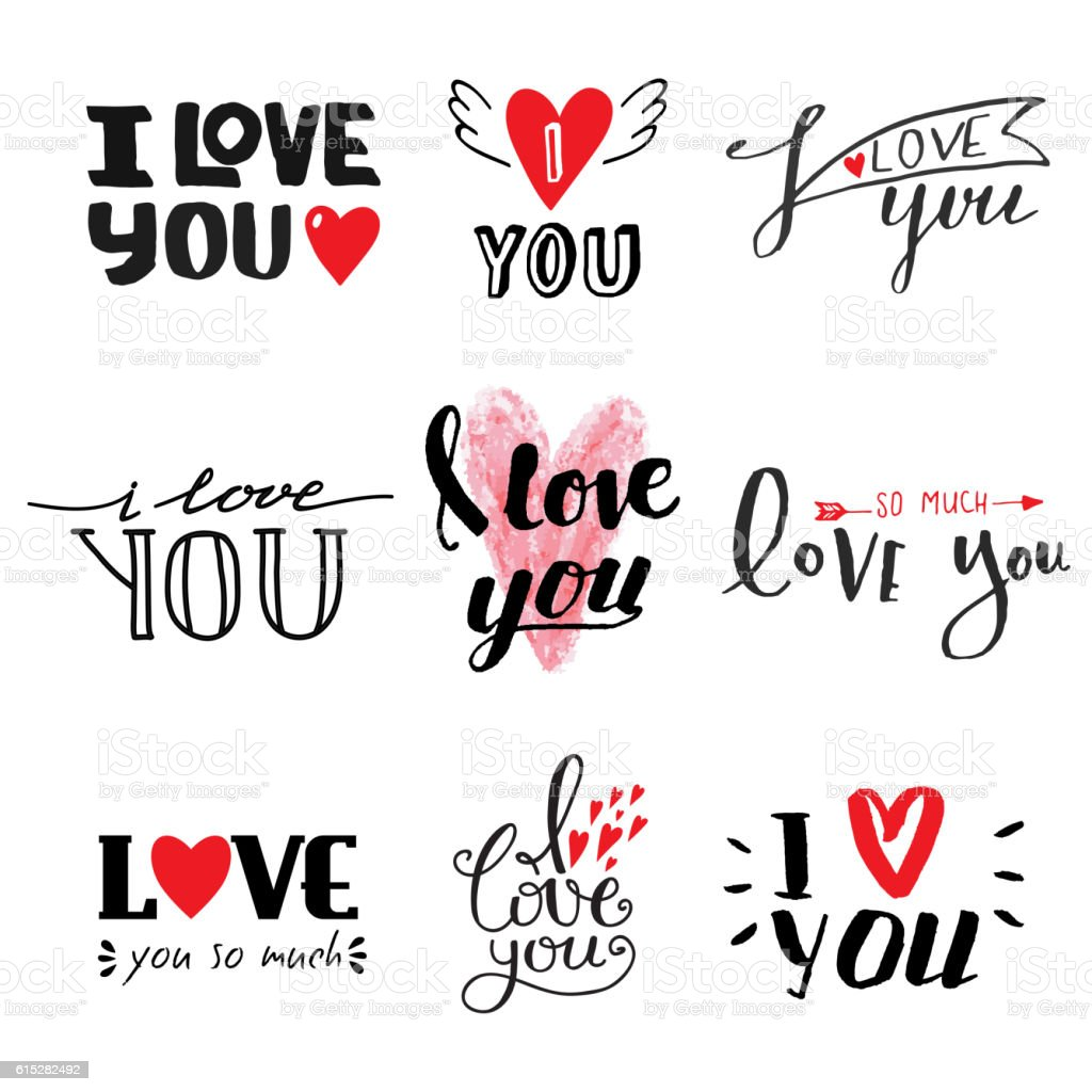 Download I Love You Vector Text Stock Illustration - Download Image ...