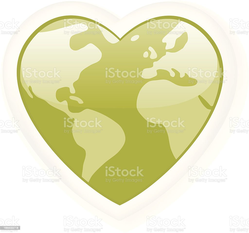 Love your planet. royalty-free stock vector art