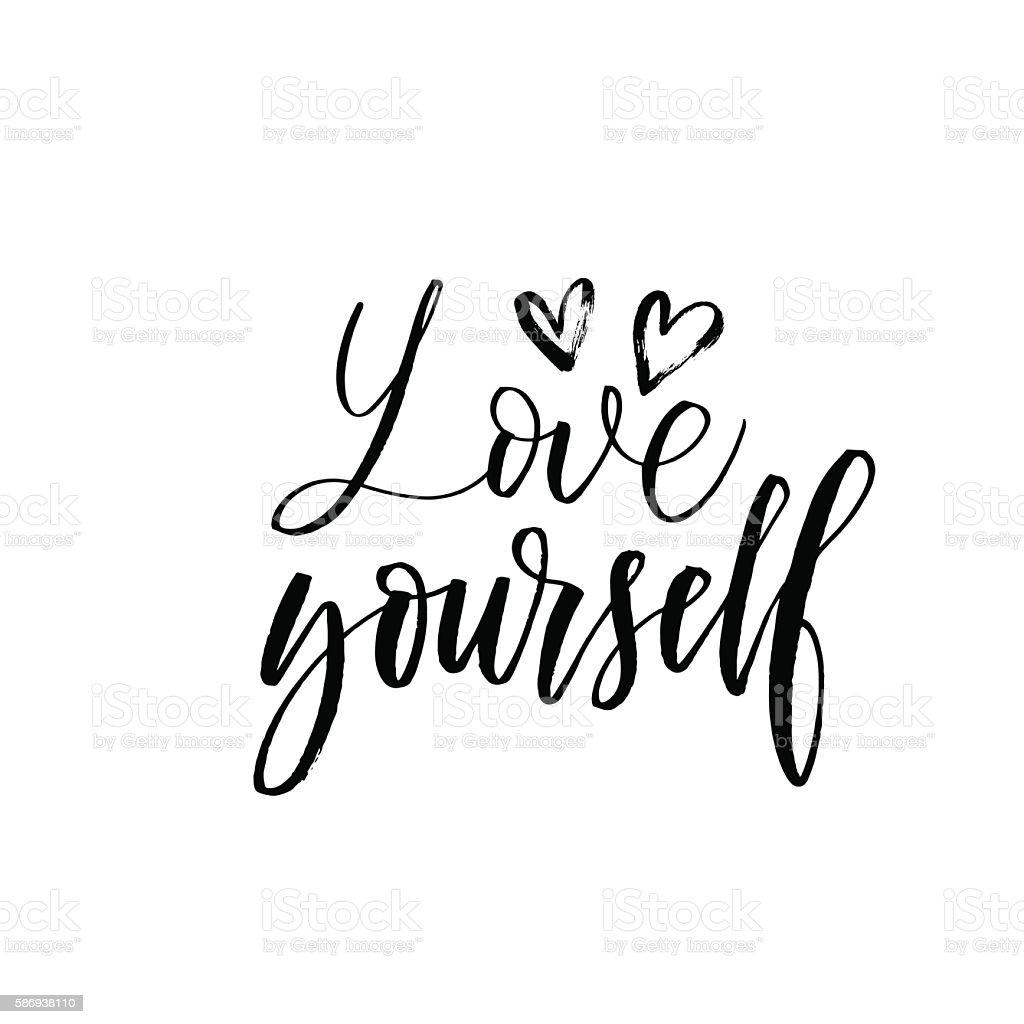 love yourself phrase ひらめきのベクターアート素材や画像を多数ご