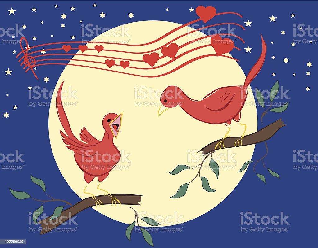 Lovebird - A Serenade for the beloved royalty-free lovebird a serenade for the beloved stock vector art & more images of animal