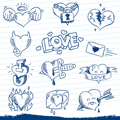 loveheart doodles