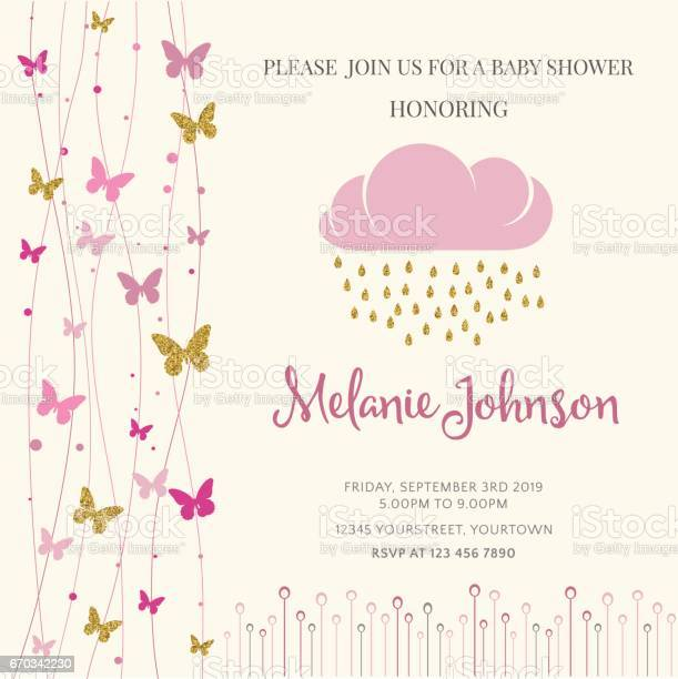 Lovely baby shower card template with golden glittering details vector id670342230?b=1&k=6&m=670342230&s=612x612&h=xjyky7 6 teoftf5py6dbega6cr6wzw8lk y5axbbls=