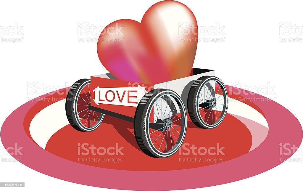Lovely cart vector art illustration