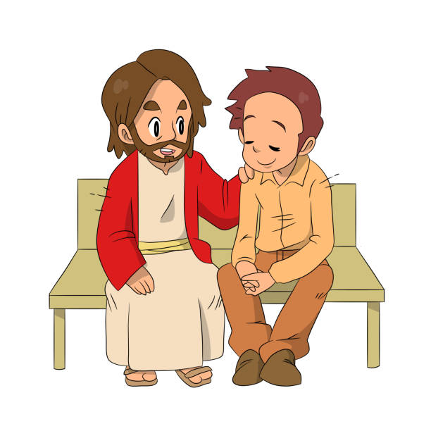 604 Jesus Praying Cartoons Illustrations Royalty Free Vector Graphics Clip Art Istock