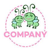 Lovely caterpillars logo