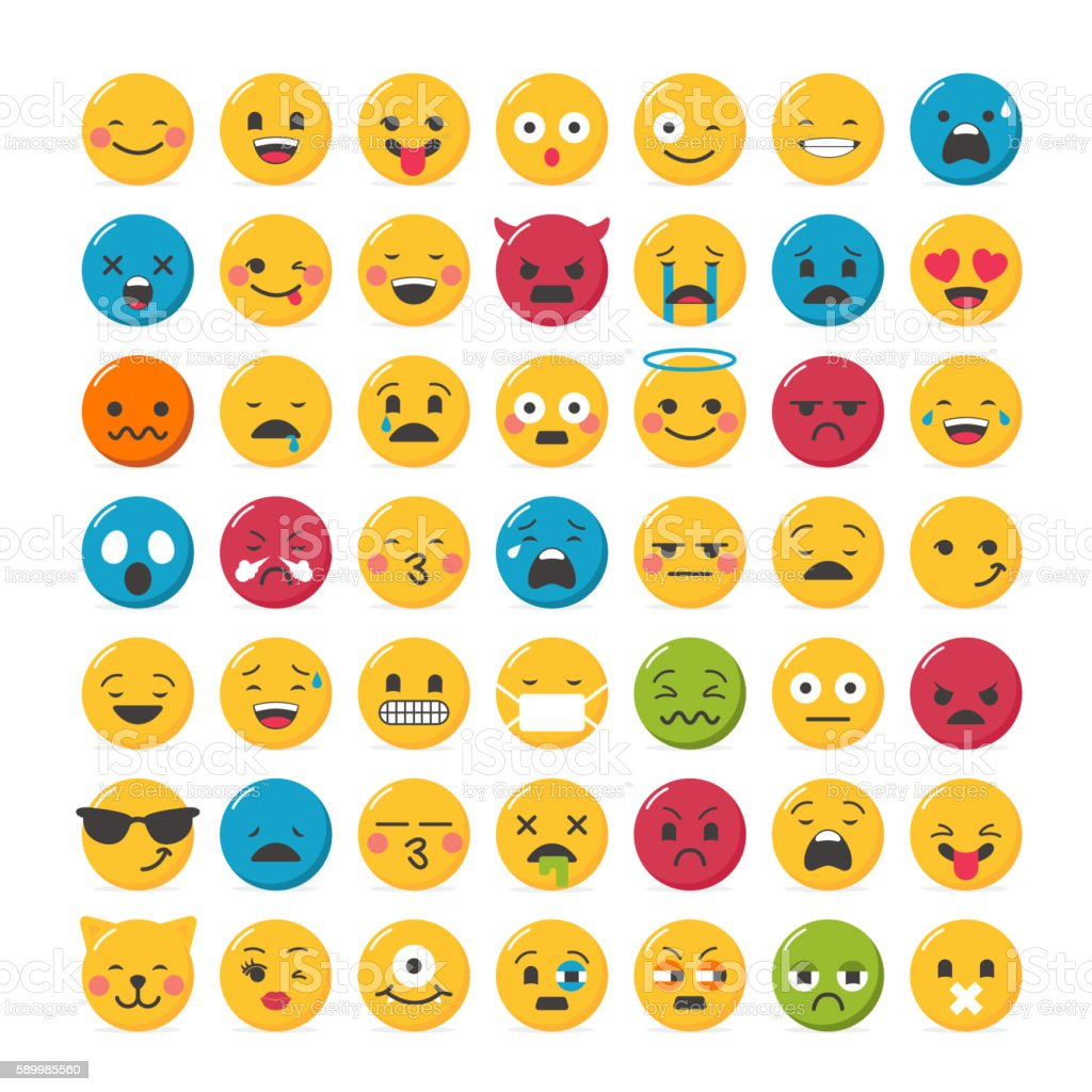 Lovely emoticons design vector art illustration