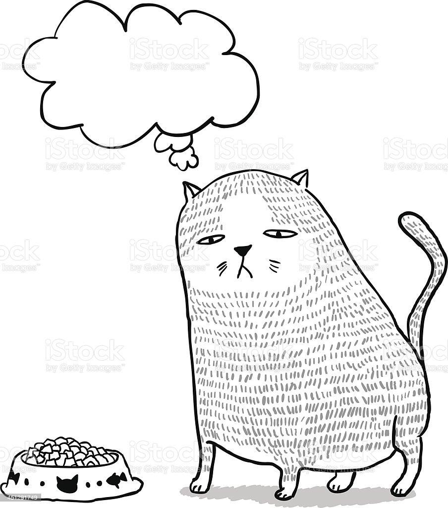 Lovely fat cat in cartoon style vector art illustration