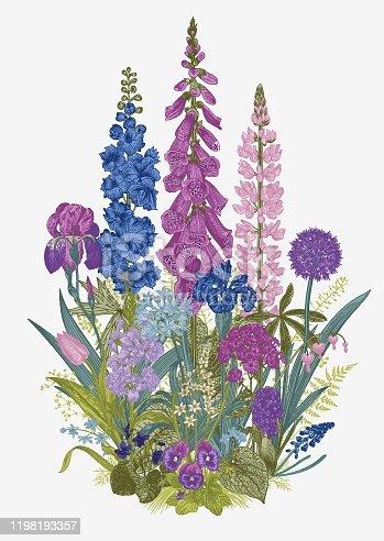istock Lovely Garden. Flowerbed. 1198193357