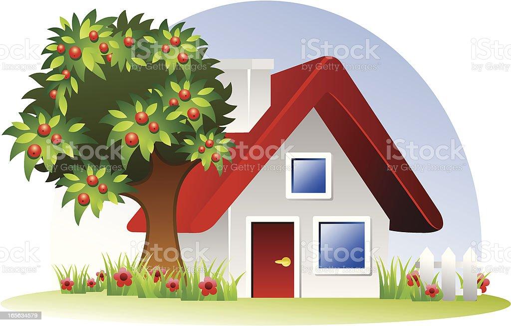 lovely house royalty-free stock vector art